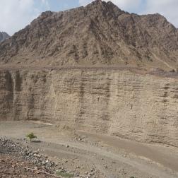 Deep ravine in Wadi Wurayah